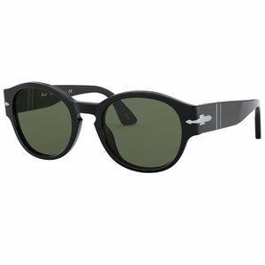 PERSOL PO3230S Unisex Black Sunglasses
